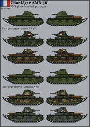 HISTORICAL - AMX 38 tank prototype