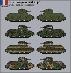 HISTORICAL - AMX 40 tank project