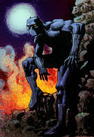 black panther stand by laseraw