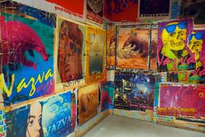wall mural at vazva santiago de compostela by laseraw