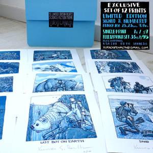 science fiction 12 print set