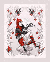 Red Winter by aleksandracupcake