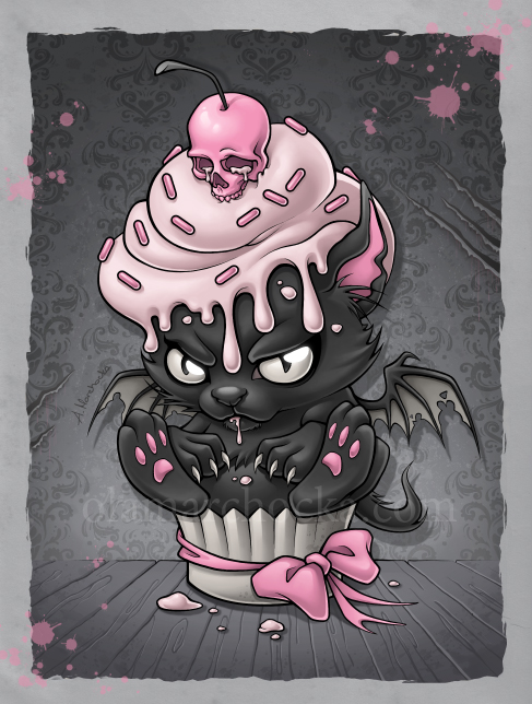 Devil Kitty Cupcake by aleksandracupcake on DeviantArt