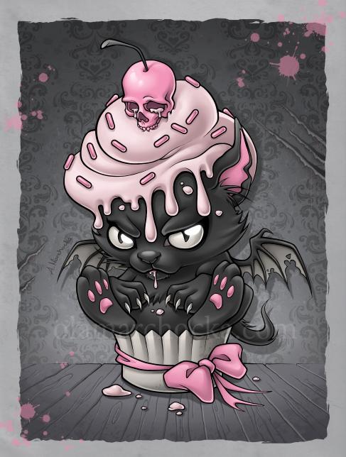 Devil Kitty Cupcake by aleksandracupcake on DeviantArt