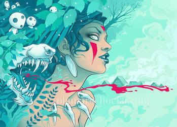 Princess Mononoke by aleksandracupcake