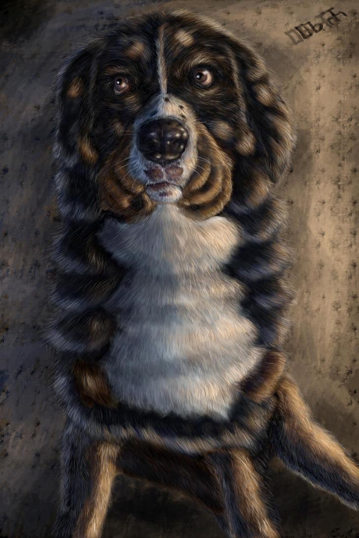 Dog painting (Ziggy) by DragosAndrei