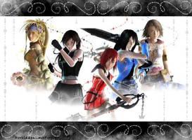 Dead Fantasy FFgirls wallpaper by ForbiddenLoveForever