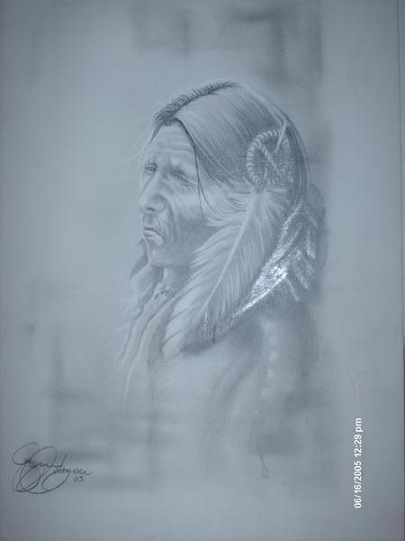 Native american pencil drawing by ericdeancoleman