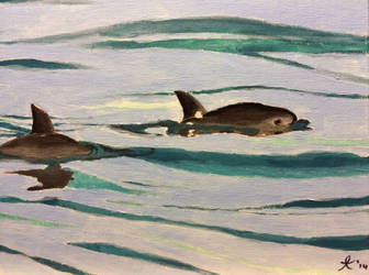 Vaquita painting by goldenliontamarin