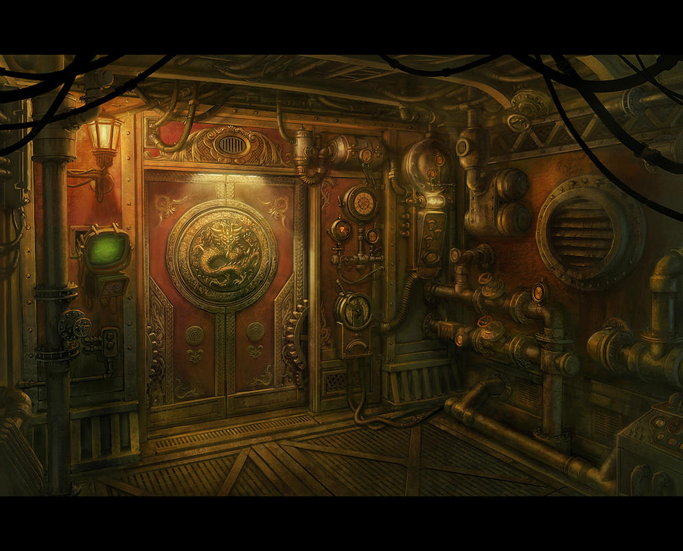 Steampunk door by bmacsmith on deviantart Steampunk interior