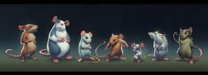 Mice lineup by BMacSmith
