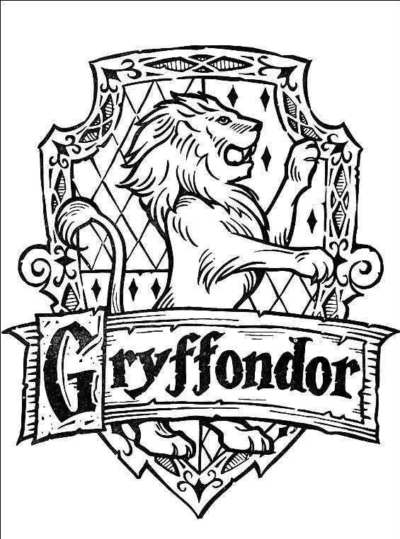 harry potter badge coloring pages | gryffindor badge by sonadow9000 on DeviantArt