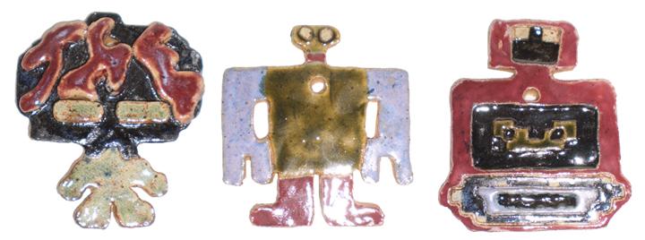 Robotron Ornaments 1 by aberrantceramics