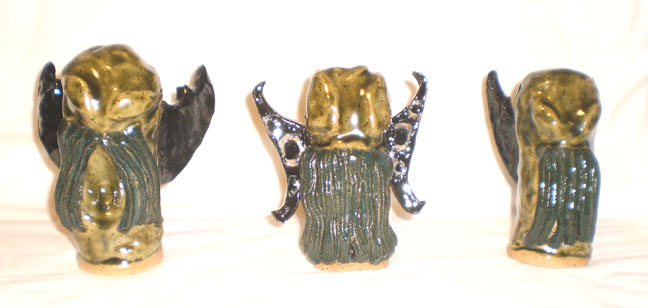 Cthulhu Religious Objects 1 - 3 by aberrantceramics