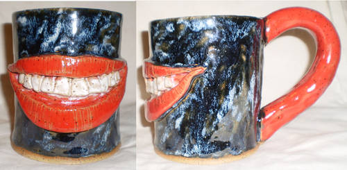 Grin Cup by aberrantceramics