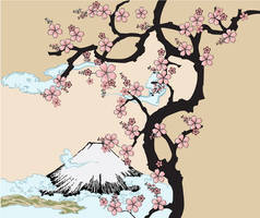 Fuji and Sakura by Gajderowicz