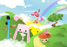 Crazy Planet - Pink Rabbit by Gajderowicz