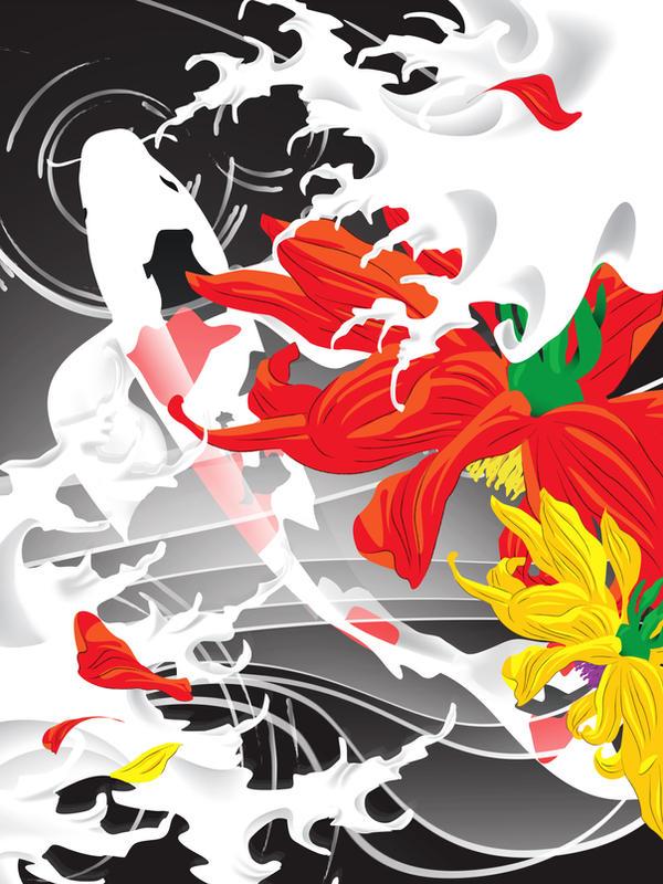 Koi pond japanese tattoo by gajderowicz on deviantart for Koi japanese art