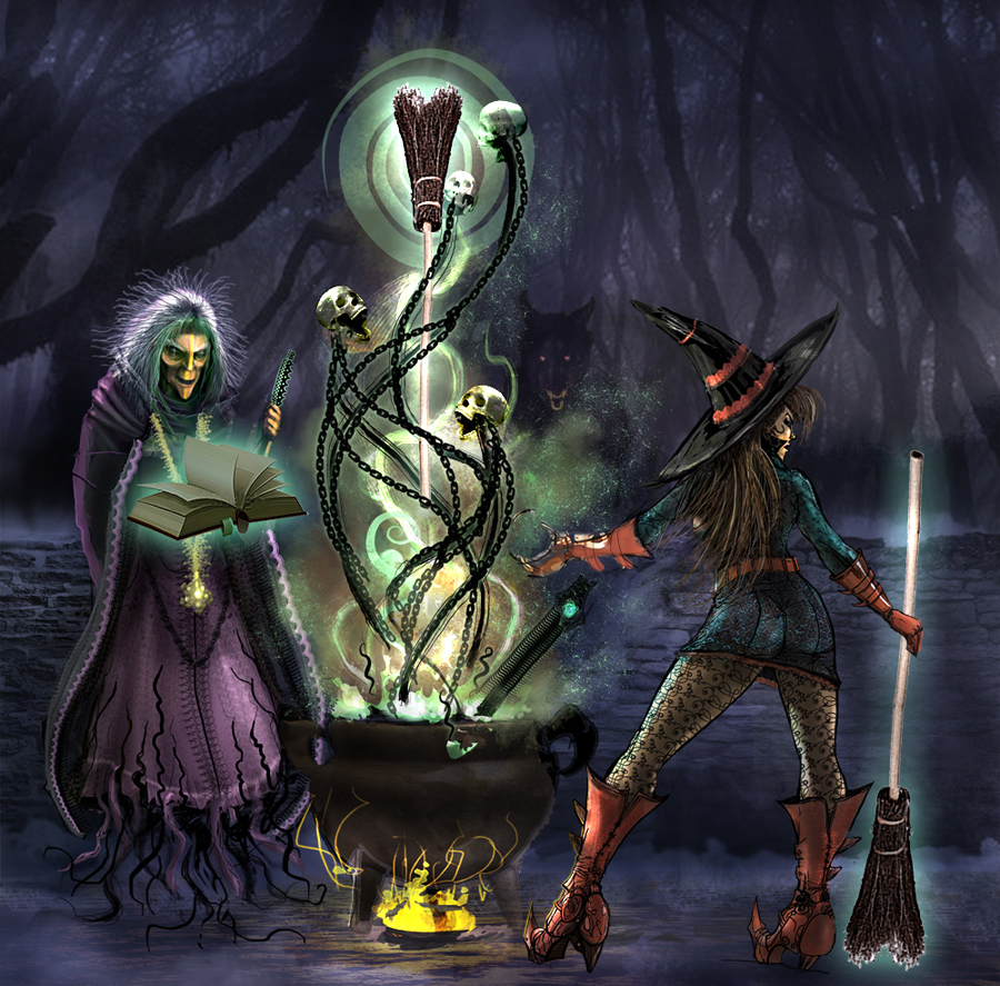 Halloween Witches by Zero-Optix on DeviantArt