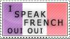 I Speak French Stamp by Apple44