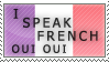 I Speak French Stamp by Apple44
