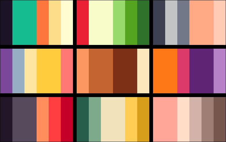 color palettes by rrrai on deviantart