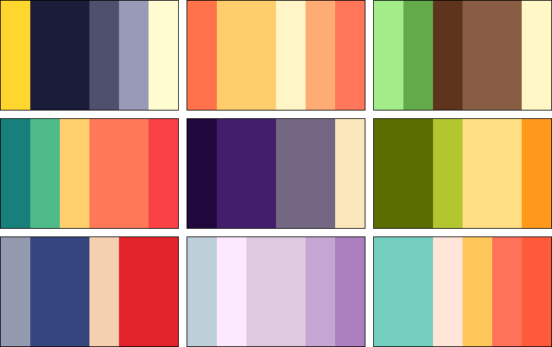 Colour Palettes - One by PaperJax on DeviantArt