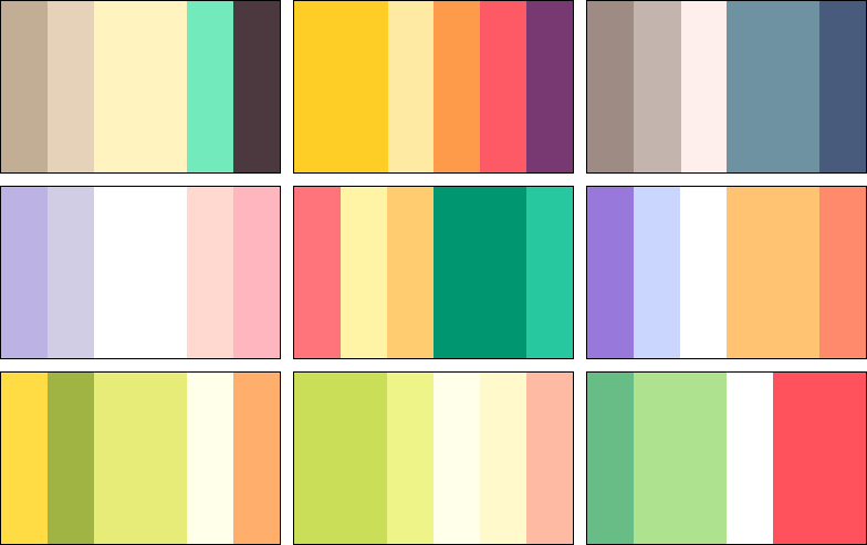 color palettes 4 by rrrai on deviantart