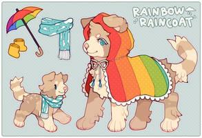 [CLOSED] DESIGN AUCTION: Rainbow raincoat puppy
