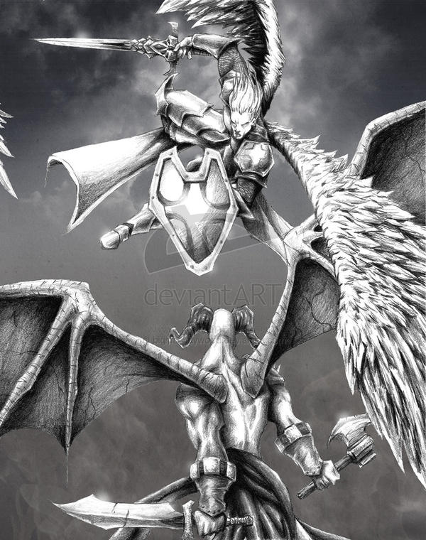 angels and demons battle art - photo #1