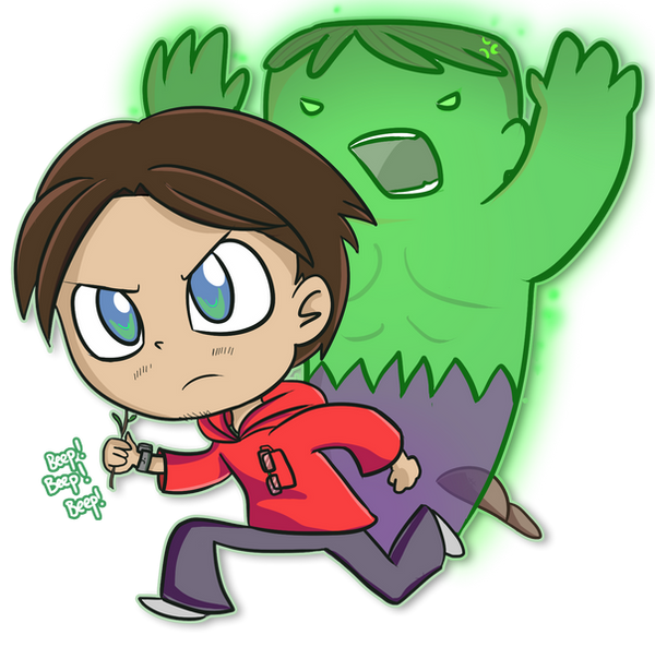 Bruce Banner by ecokitty