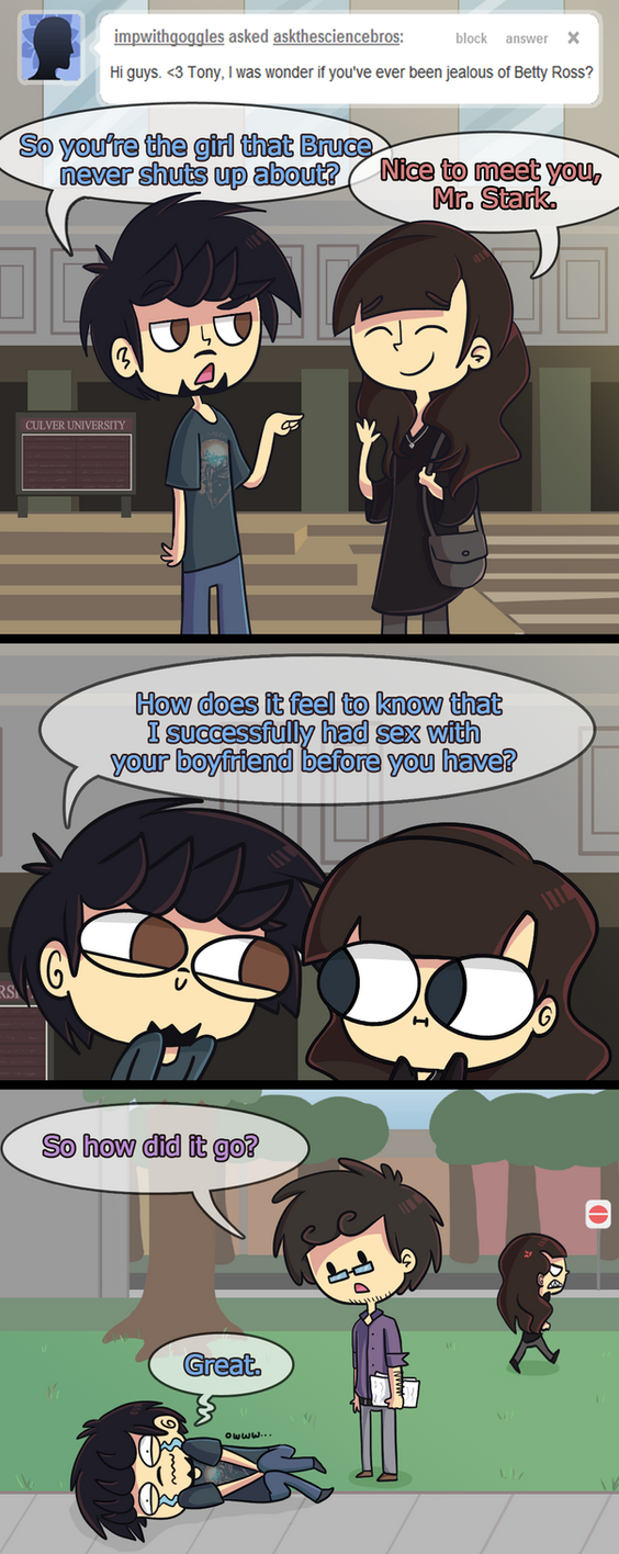 Science Bros Ask 5 by ecokitty