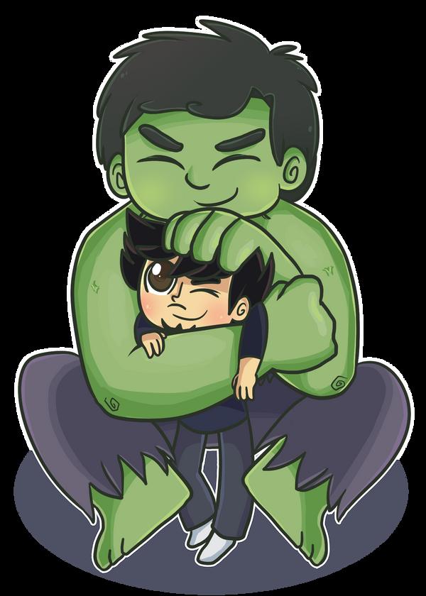 Commish: Hulk Snuggle by ecokitty