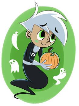 Ghost Boy give u pumkin