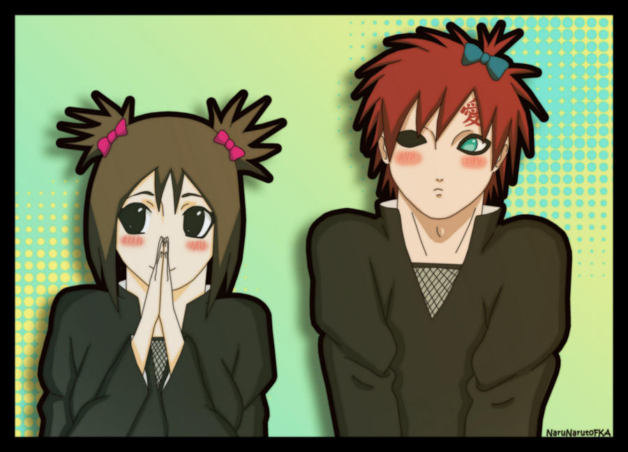 Gaara_Matsuri_and_bows by NaruNarutoFKA on DeviantArt Gaara And Matsuri Kiss