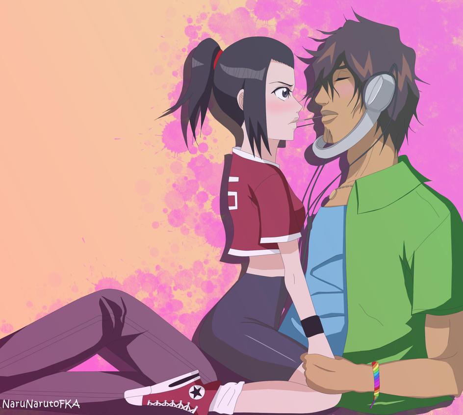 ChadKarin: Pocky kiss by NaruNarutoFKA