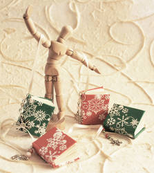 Miniature book christmas ornam
