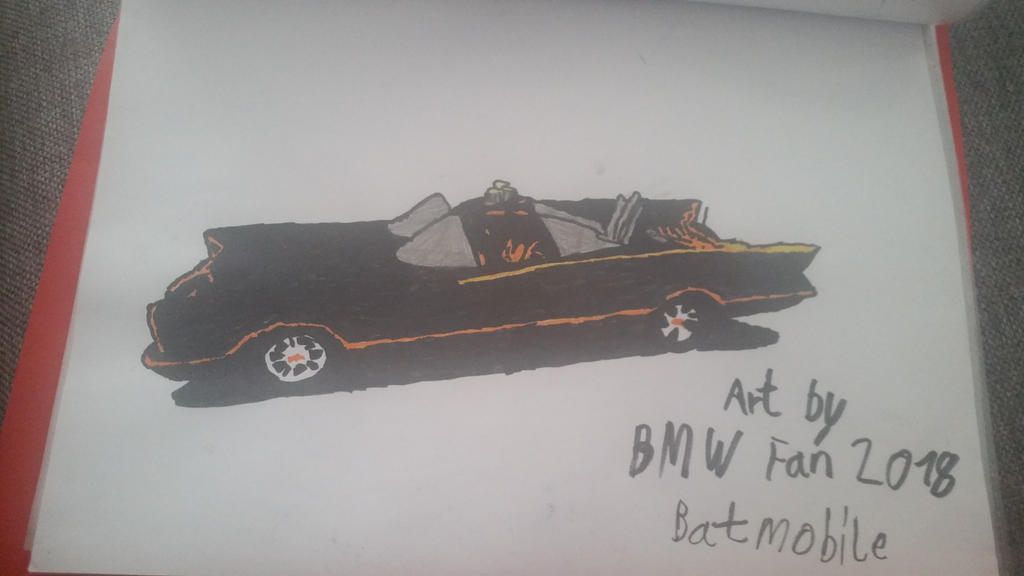 I drew Batmobile. by TheBoyNamedMuzaffer