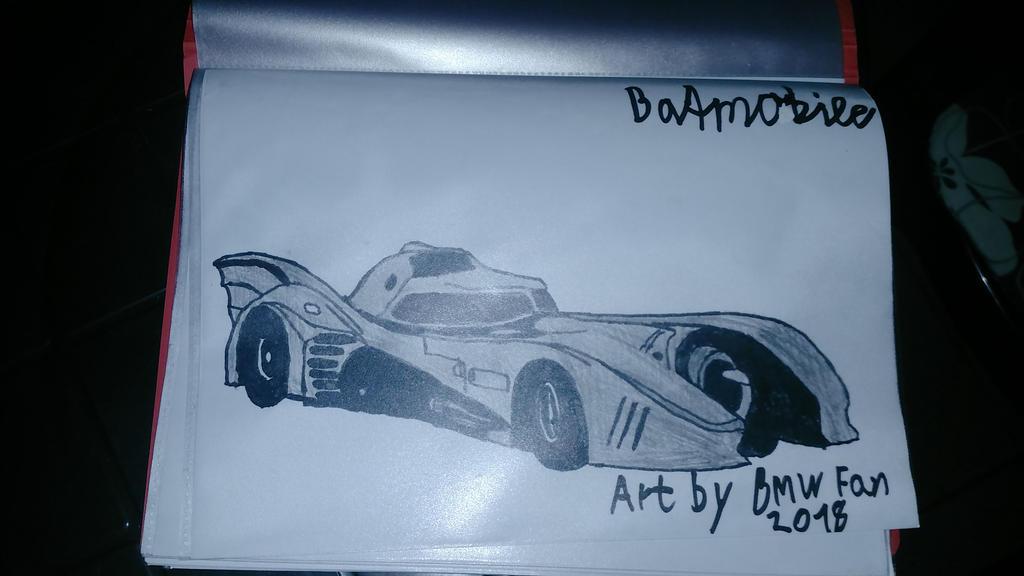 I drew Batmobile again. by TheBoyNamedMuzaffer