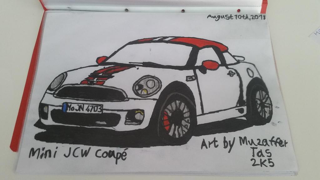 I drew Mini JCW Coupe by TheBoyNamedMuzaffer