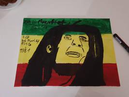 My paintings of Bob Marley.