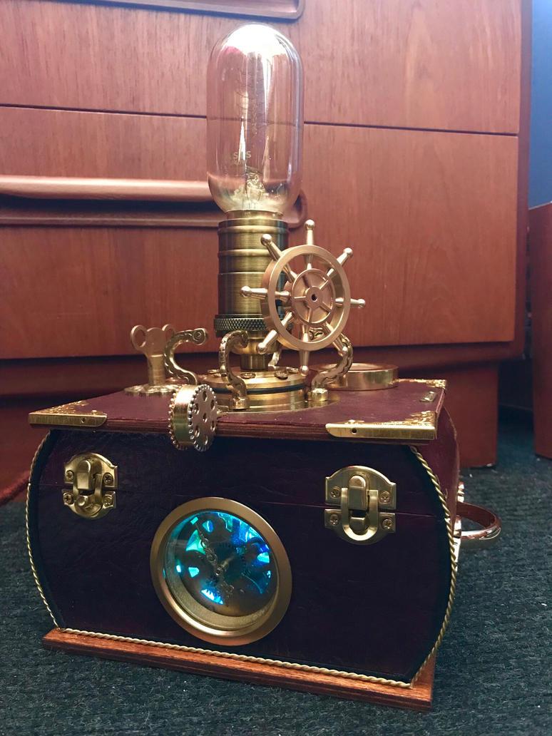 Mechanical clock steampunk lamp  by ovdiem