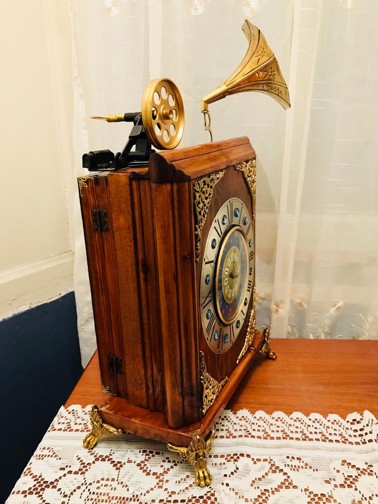 Homemade mechanical mantel clock  by ovdiem