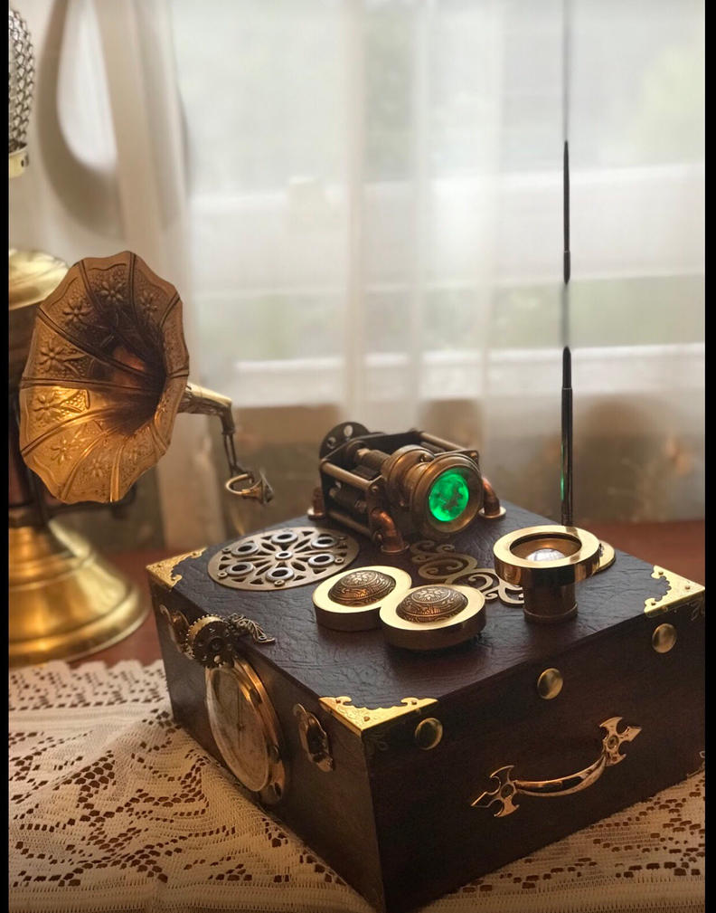 Steampunk radio by ovdiem