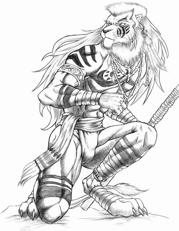 how to draw a lizard man