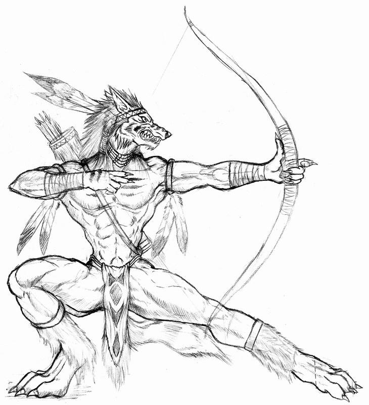 werewolf archer by WolfLSI