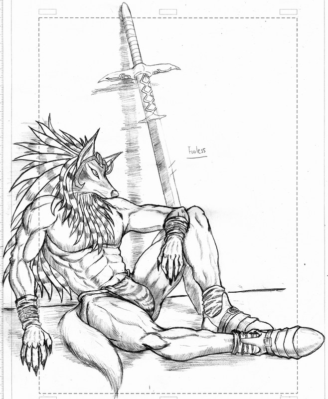 Werewolf long sword warrior by WolfLSI