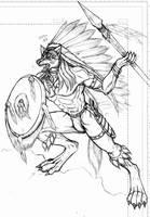 Werewolf spirit warrior by WolfLSI