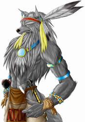 Werewolf tribal warrior by WolfLSI