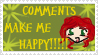 comments make me happy by Animefeiry2